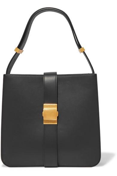 Bottega Veneta Marie Embellished Leather Shoulder Bag In Black