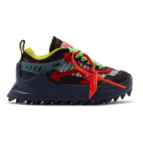 Off-White Odsy-1000 Low-Top Sneakers - 蓝色 In Blue Red