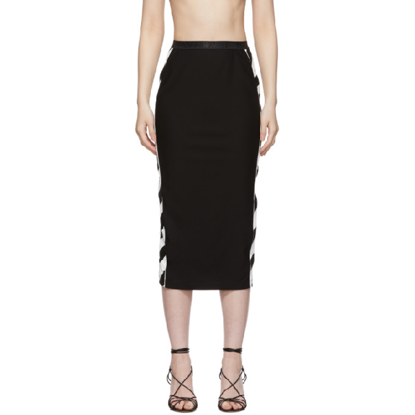Off-white Diag Athletic Longuette Skirt In Black