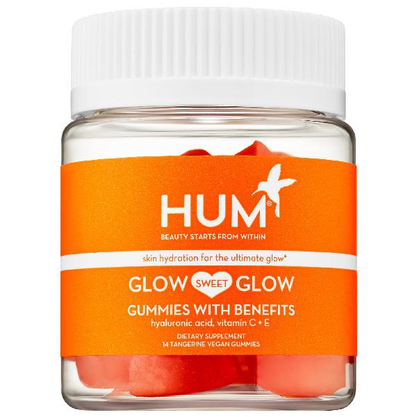 Hum Nutrition Glow Sweet Glow Skin Hydration - Vegan Gummies Mini 14 Tangerine Vegan Gummies