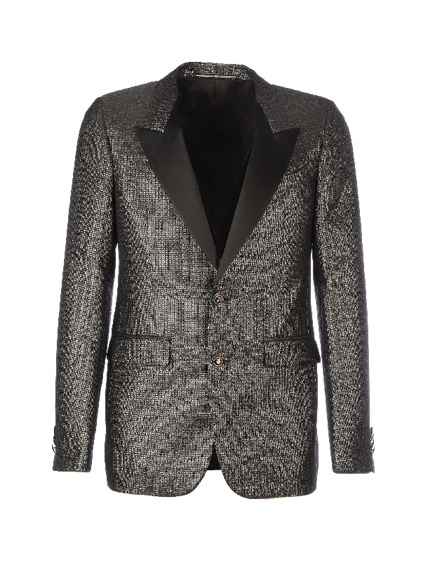 Givenchy Lurex Details Suit In Black Grey