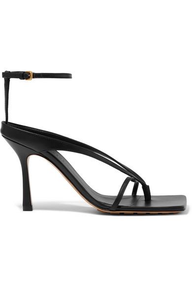 Bottega Veneta Black 95 Knot Strap Nappa Leather Sandals