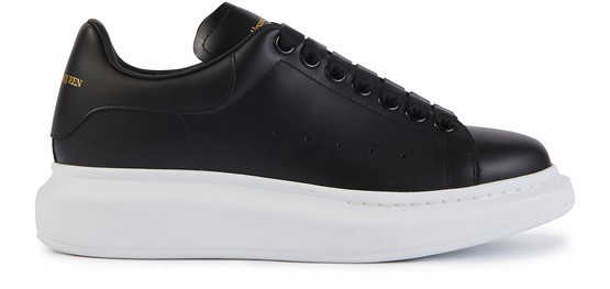 Alexander Mcqueen Low-top Sneakers Larry Calfskin Logo Black In 1000 Black