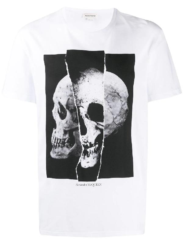 Alexander Mcqueen Skull Print T-shirt - 白色 In White