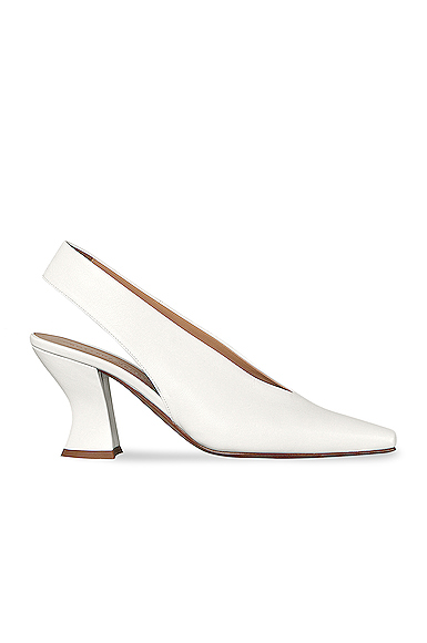 Bottega Veneta Women's Almond-toe Slingback Pumps In White