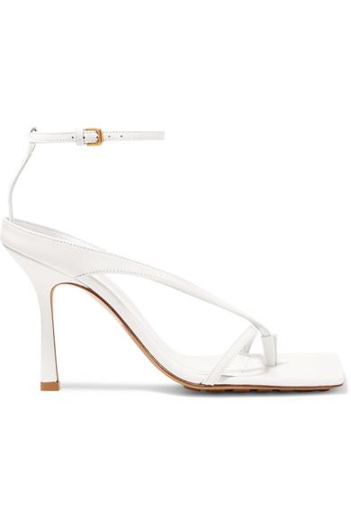 Bottega Veneta Bottega Venetta Women's Square-toe High-heel Sandals In White