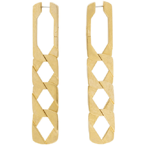 Alexander Wang Chain Link Earrings In 000 No Colo
