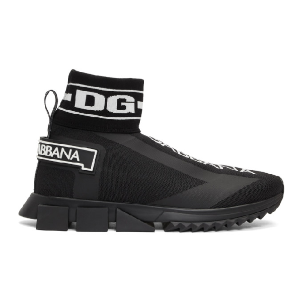 Dolce & Gabbana Dolce And Gabbana Black Sorrento High-Top Sneakers In 8B956 Nero