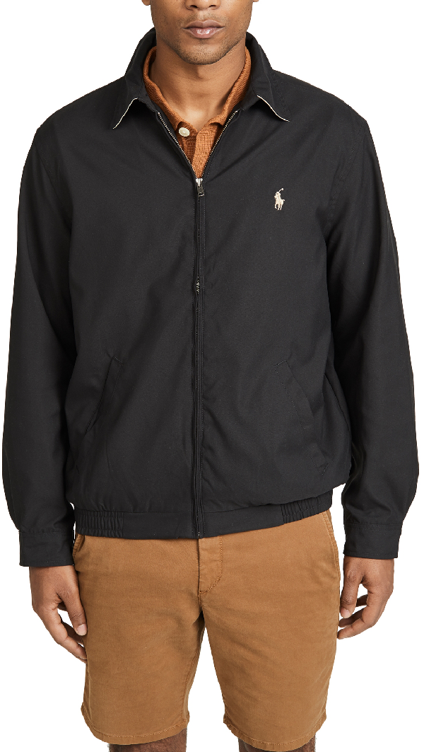 Polo Ralph Lauren Bi-swing Windbreaker Jacket In Rl Black