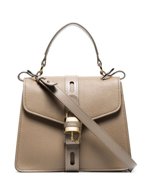 ChloÉ Chloe Small Aby Day Bag In Motty Grey In Neutrals