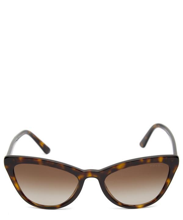 Prada Oversized Acetate Cat-eye Tortoiseshell Sunglasses In Havana Brown