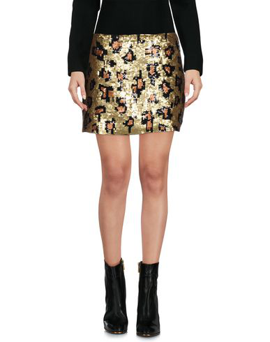 Liquorish Mini Skirt In Gold