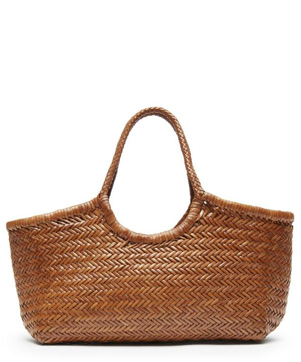Dragon Diffusion Nantucket Woven Leather Tote Bag In Tan