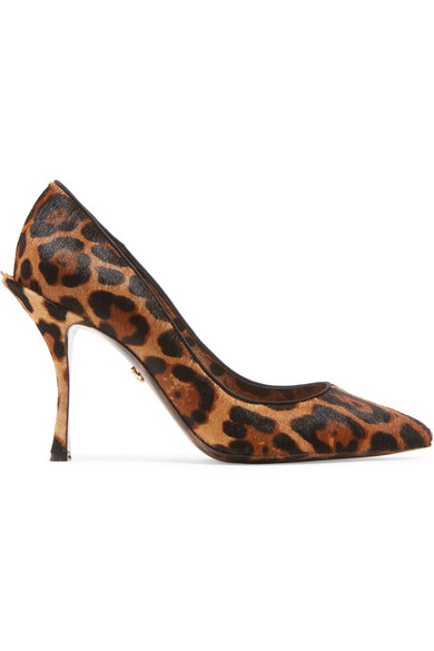 Dolce & Gabbana Decollete 'In Cavallino With Leopard Print