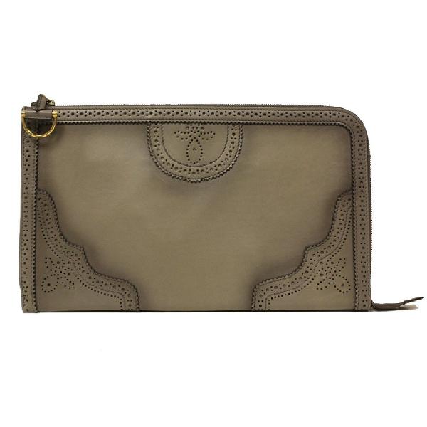 Gucci Duilio Brogue Wallet Grey