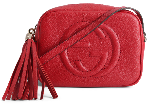 Gucci Soho Disco Leather Small Red