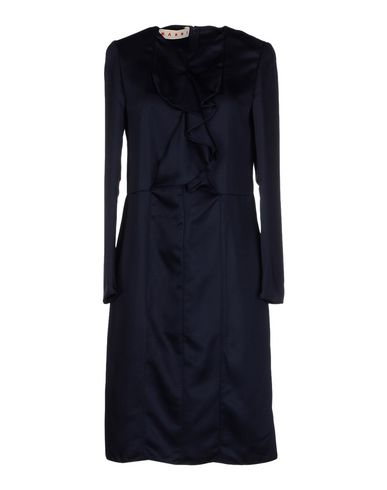 Marni Short Dress In Dark Blue