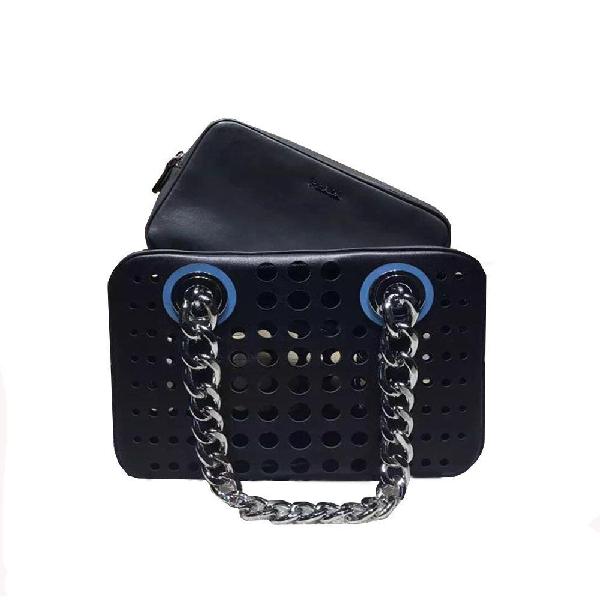 Prada City Fori Handbag Navy Blue/gray