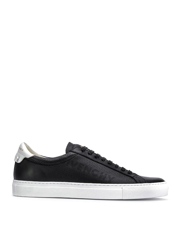 Givenchy Men's Urban Street Leather Low-Top Sneakers In 004 Black White