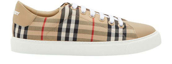 Burberry Women's Albridge Vintage Check Low-top Sneakers In Beige