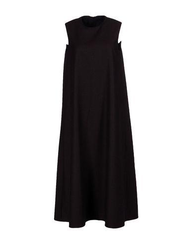 The Row Midi Dress In Dark Brown
