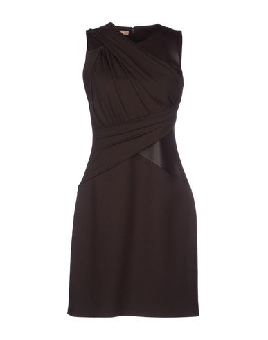 Michael Kors Short Dress In Dark Brown