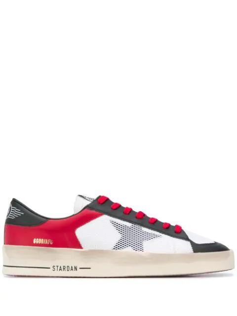 Golden Goose Stardan Black, White, Red Leather Sneaker