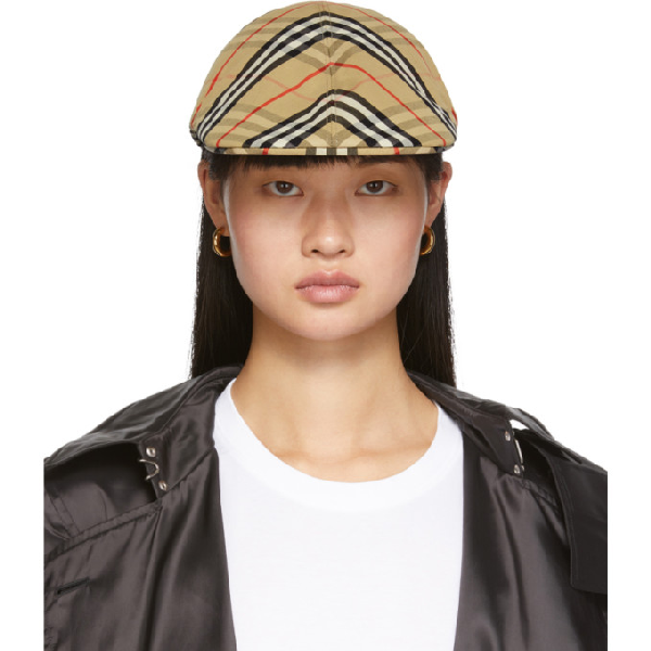 Burberry Vintage Check Cotton Flat Cap In Archive Bei