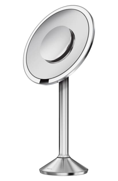 Simplehuman 8 Inch Round Sensor Makeup Mirror Pro In Stainless Steel