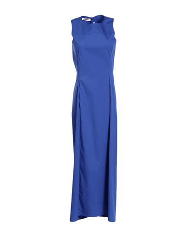 Jil Sander Long Dress In Bright Blue