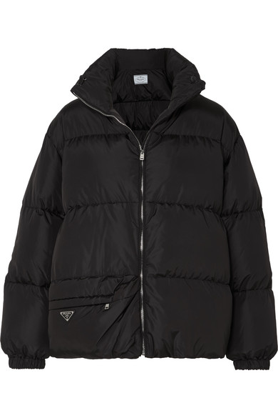 Prada Down And Feather-filled Technical Jacket In Black