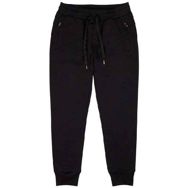 Dolce & Gabbana Black Cotton-jersey Sweatpants