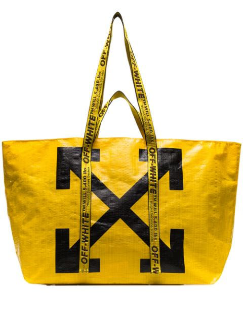 Off-white Commercial Arrow Tote Bag In Yellow