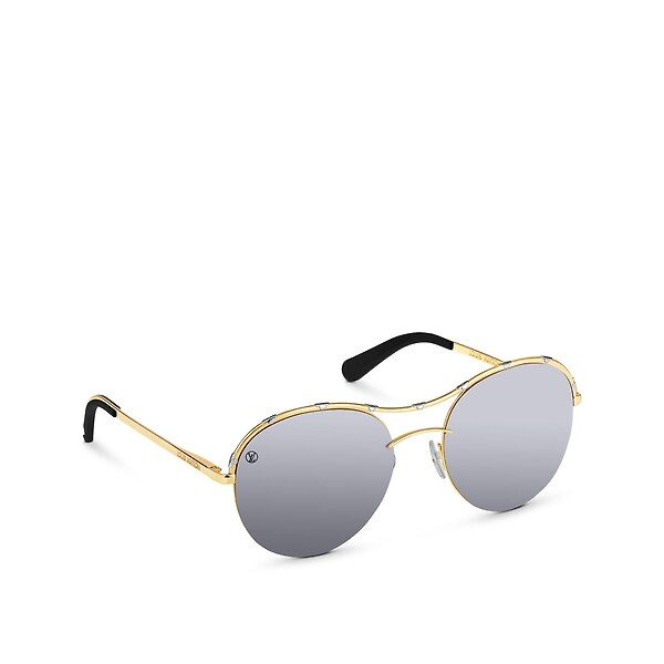 03db49b1b3b Louis Vuitton Diabolo Menthe Sunglasses In Silver | ModeSens