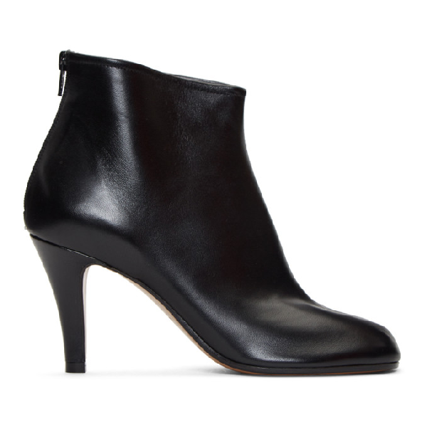Maison Margiela Tabi Black Ankle Boots With Stiletto Heel In T8013 Black