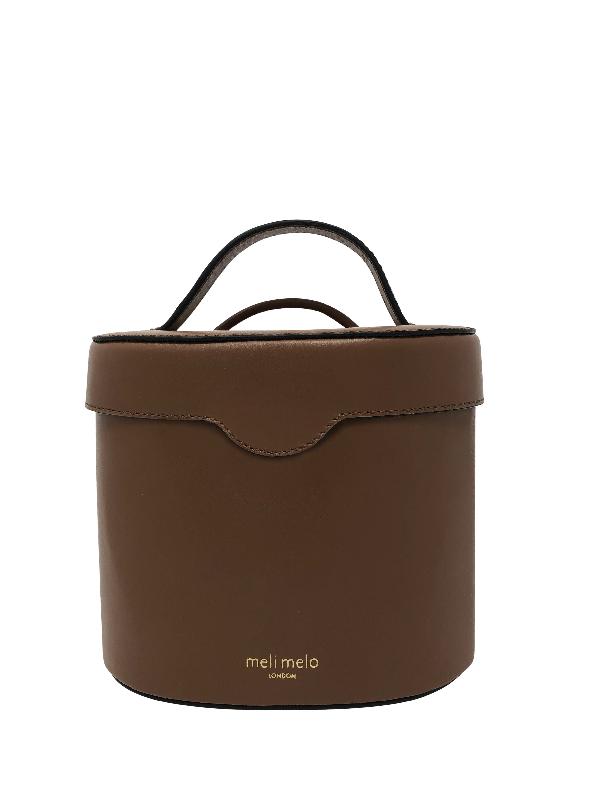 Meli Melo Kitty Argan Brown Leather Cross Body Bag For Women
