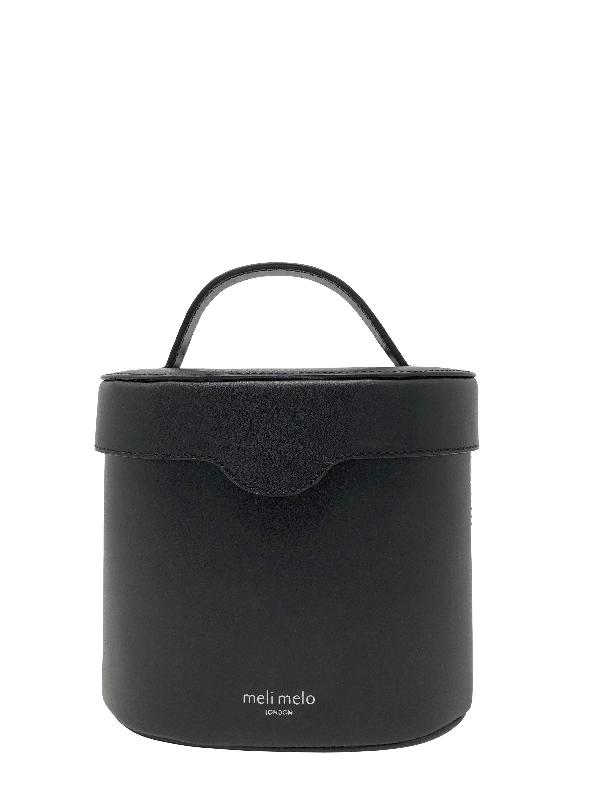 Meli Melo Kitty Black Leather Cross Body Bag For Women