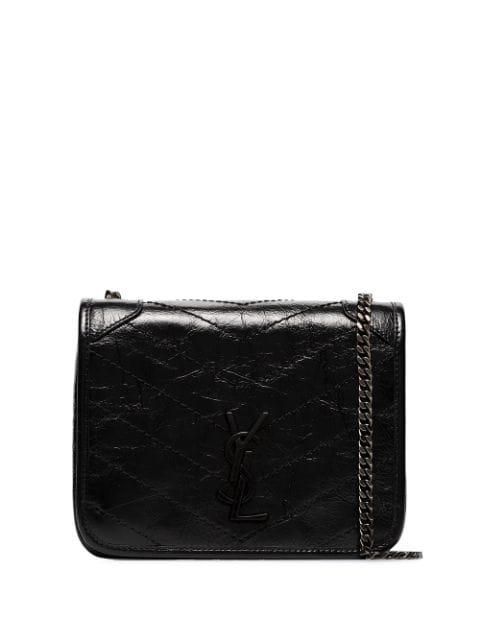 Saint Laurent Green Niki Vintage Mini Leather Shoulder Bag - 绿色 In Black