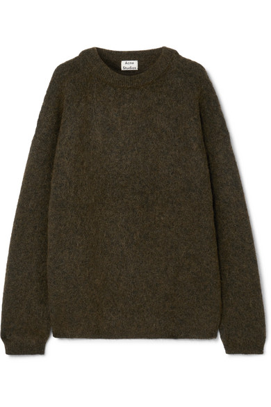 Acne Studios Dramatic Mohair Knitted Jumper In Green