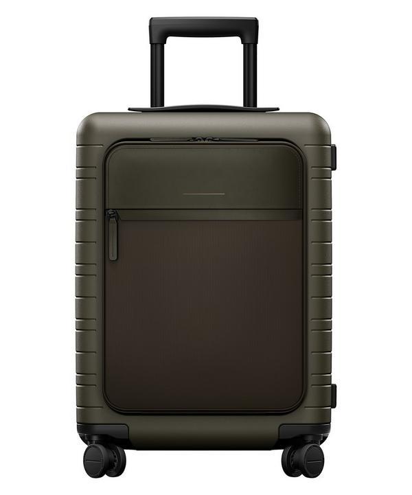 Horizn Studios Cabin Trolley Suitcase In Dark Olive