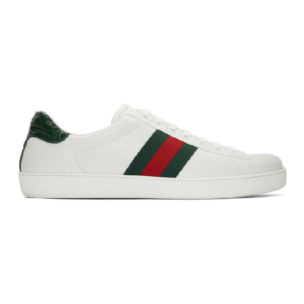 Gucci New Ace Leather Tennis Shoe, Toddler/youth 10.5t-4y In White