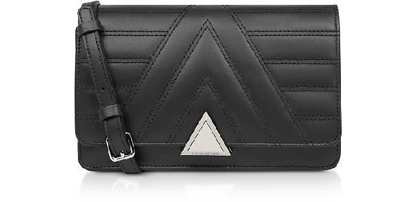 Lancaster Parisienne Matelassé Quilted Leather Crossbody Bag In Black