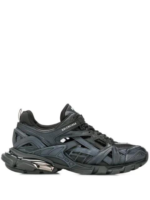 Balenciaga Track.2 Nylon, Mesh And Rubber Sneakers In Black