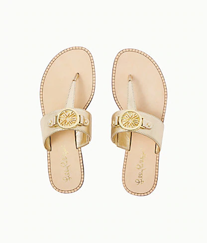 Lilly Pulitzer Rousseau Sandal In Prosecco Pink