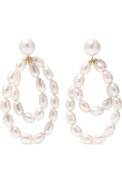 Natasha Schweitzer Coco 9-karat Gold Pearl Earrings