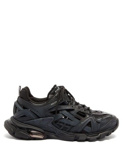 Balenciaga Track 2 Mesh, Nylon And Rubber Sneakers In Black