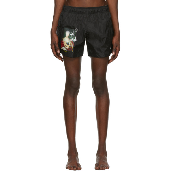 Off-white Mariana De Silva Graphic-print Swim Shorts In Black Multi