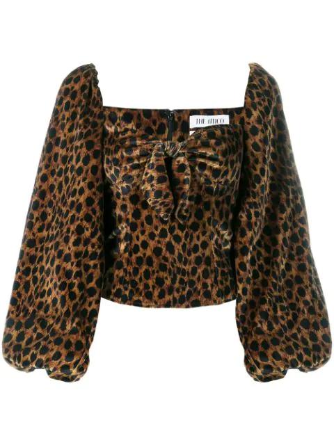Attico Leopard Print Blouse - 黑色 In Black
