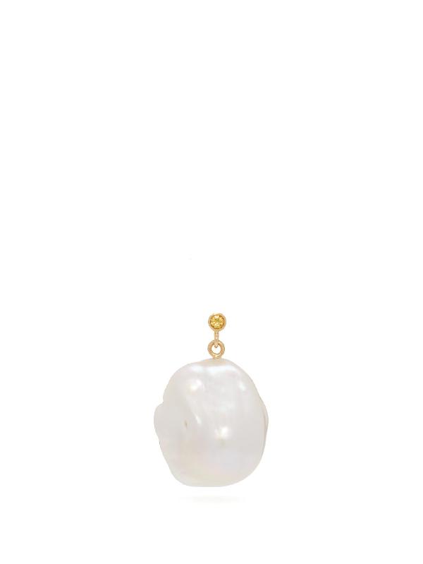 Nadia Shelbaya 100 Morgiana Baroque-pearl Drop Earring
