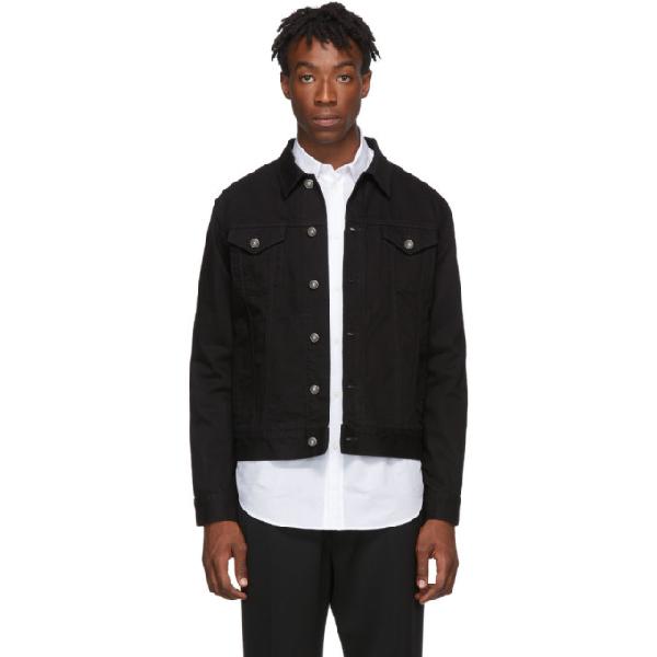 Givenchy Embroidered Printed Logo Denim Jacket - 黑色 In 001 Black
